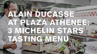 3 Michelin star restaurant: Alain Ducasse au Plaza Athénée: [tasting Menu], Paris.