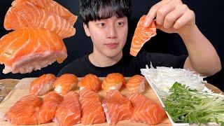통연어 연어 초밥 먹방 ASMR MUKBANG SALM…