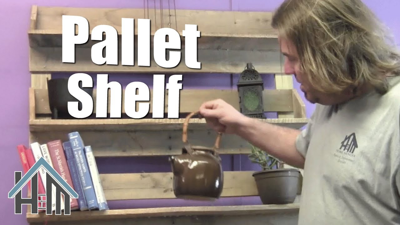How To Build Pallet Bookshelf Free And Easy Home Mender