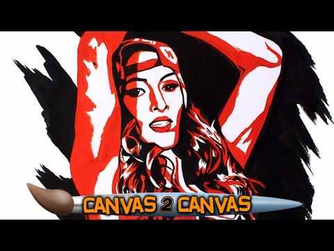 Nikki Bella is fearless on the canvas!: WWE Canvas 2 Canvas