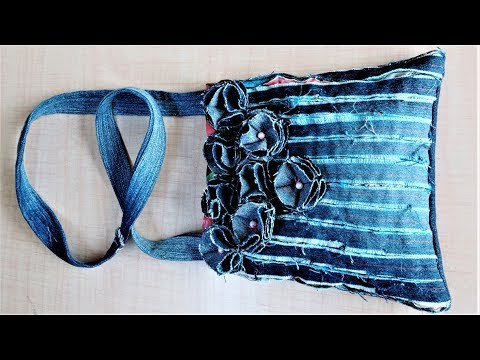 How To Make  Hand Bag / Purse From Old Jeans | DIY Easy Hand Bag | Old Cloth Reuse Ideas