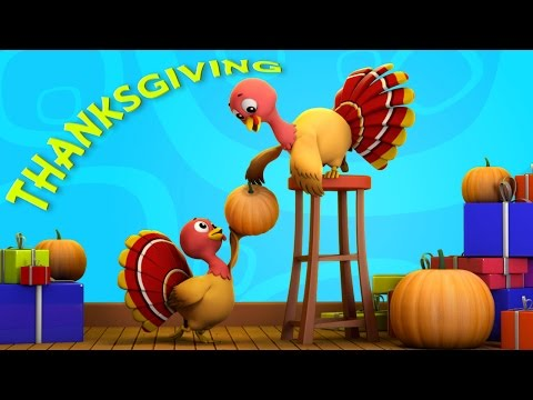 Thanksgiving | turkey song | nursery rhymes Farmees | five little turkeys rhymes by Farmees S01E137