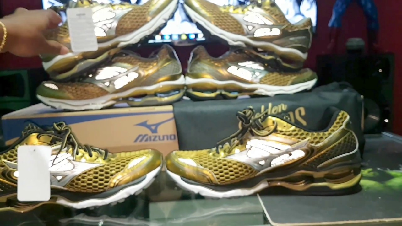 Tênis Mizuno Wave Creation 17 Golden Runner Limited Edition Original ... deb78bbdd92c0