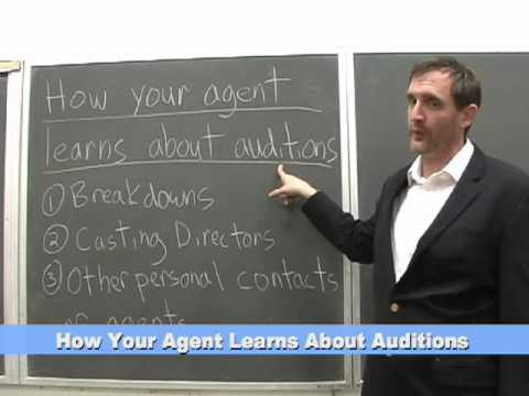 How to Become an Actor:  How An Agent Learns About Auditions.