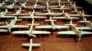 Avião De Madeira Decorativo Brinquedo Lembrança Festa Ref 050 Wooden Plane Toy