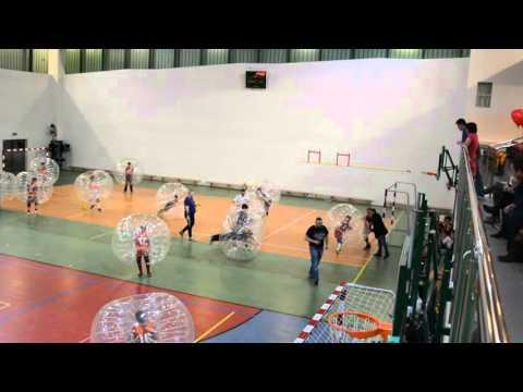 Akcja Zima w Gminie Lesznowola - mecz Bumper Ball