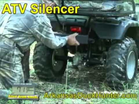 Benz ATV Silencer on a Honda Rancher