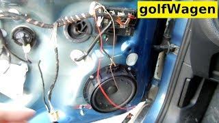 VW Golf 7 led exit door light install