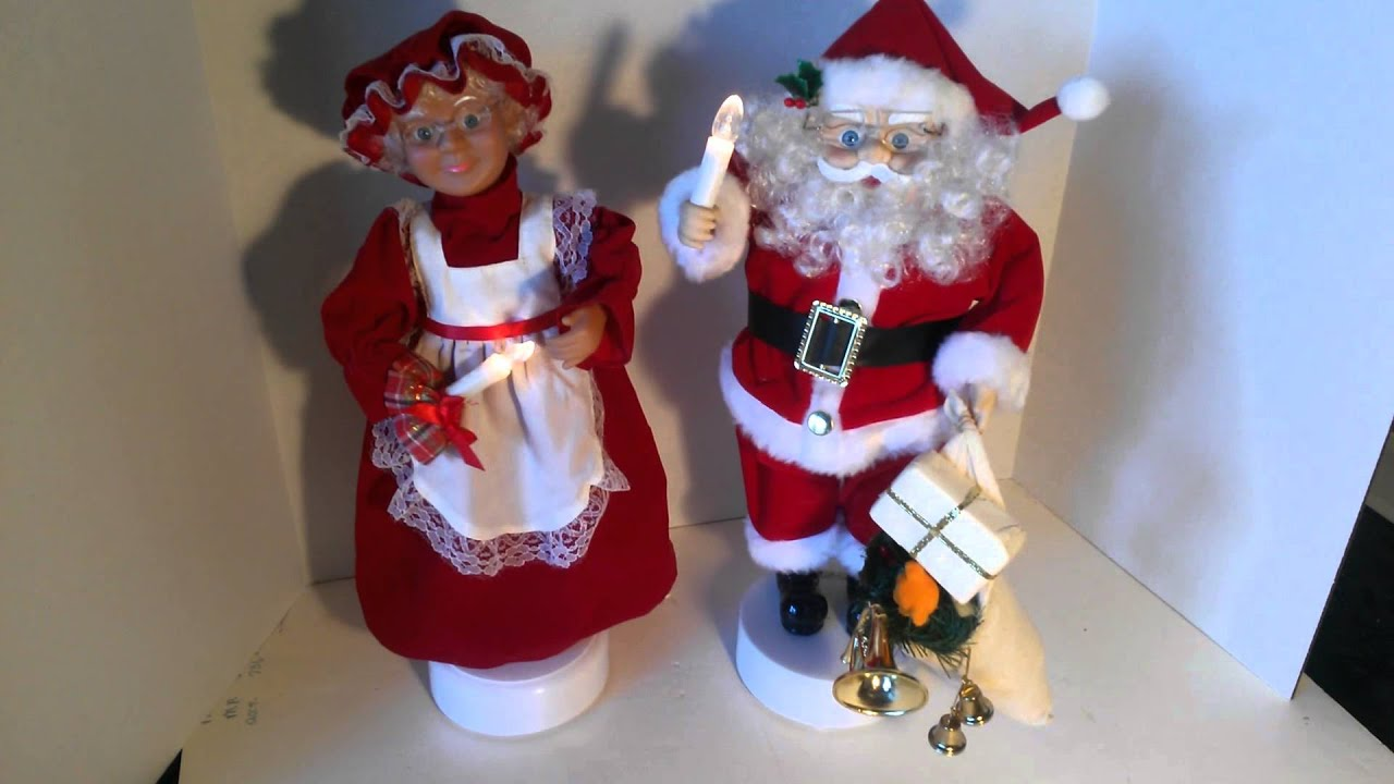 Mr and mrs claus ornaments - Mr And Mrs Santa Claus Animated Lighted