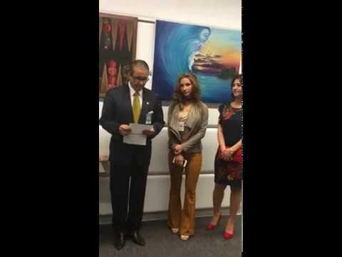 VIC Art Club, President Speech at the Azerbaijan Mission NOVRUZ Exhibition in the UN Office Vienna