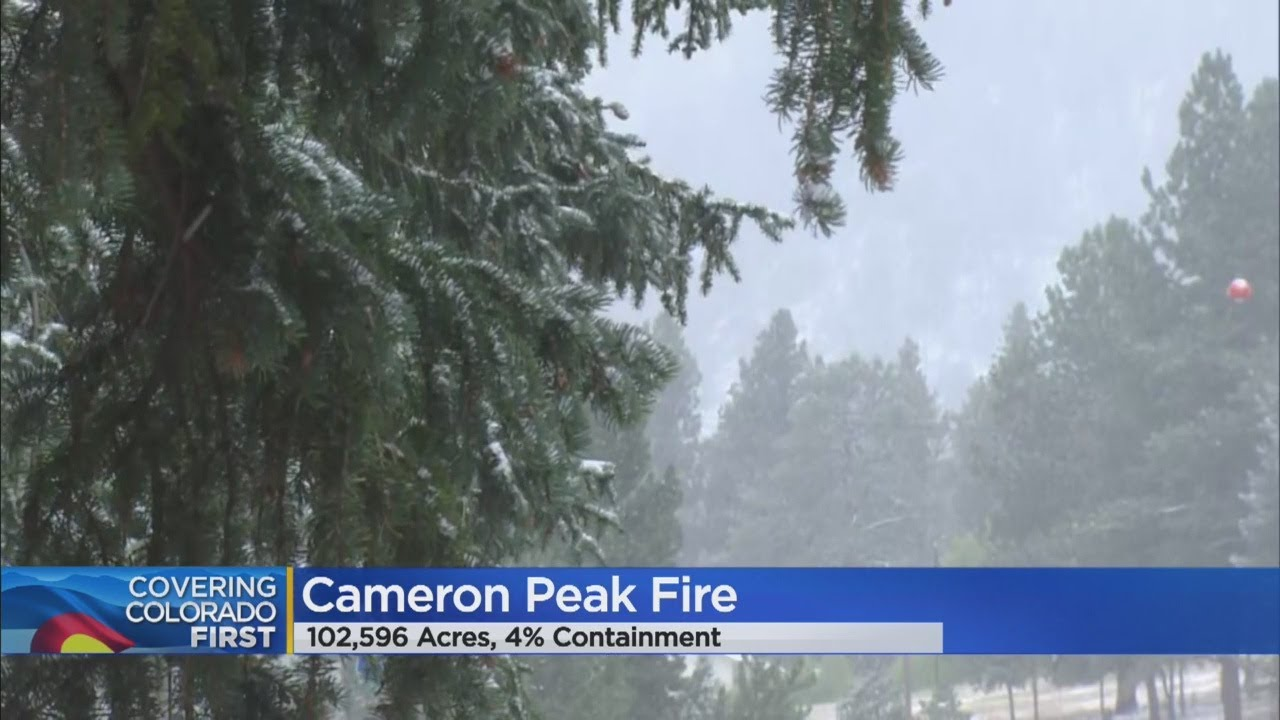 Summer Snow Helps Crews Hold Cameron Peak Fire At 102,596 Acres