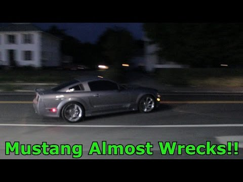 CRAZY DUDE ALMOST WRECKS SALEEN MUSTANG!!
