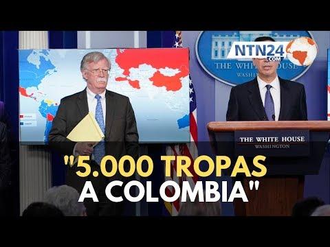 """""""5.000 tropas a Colombia"""": el apunte de John Bolton que causa intriga en la región"""