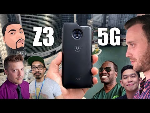 Hands on with the Moto Z3 + 5G Mod: YouTubers REACT!