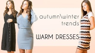 WARM DRESSES HAUL| Autumnwinter fashion from Aliexpress
