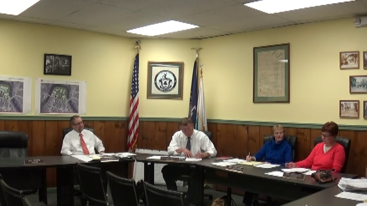 Champlain Village Board Meeting  11-13-17