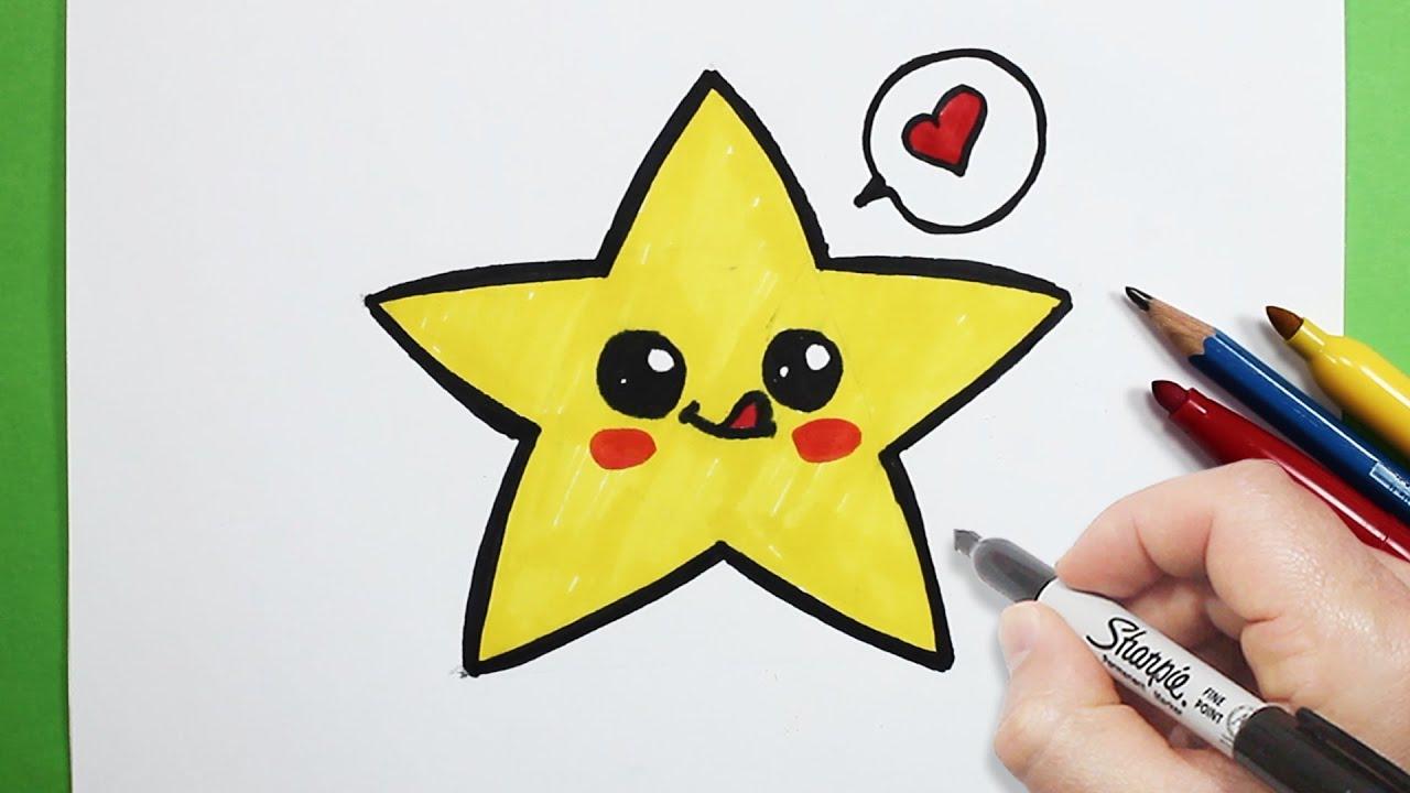 رسم نجمة كيوت بالرصاص رسم كيوتات تعلم الرسم Youtube