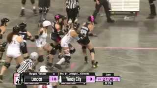 WFTDA Roller Derby: 2014 Division 1 Playoffs, Evansville: London vs. Windy City