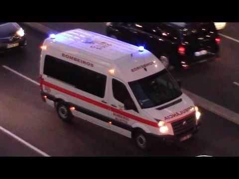 Alvito Volunteer FD Transport Ambulance responding in Lisbon