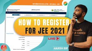 How to Register for JEE 2021? 🤔 | How to Register for JEE Mains 2021 | Harsh Sir | Vedantu JEE