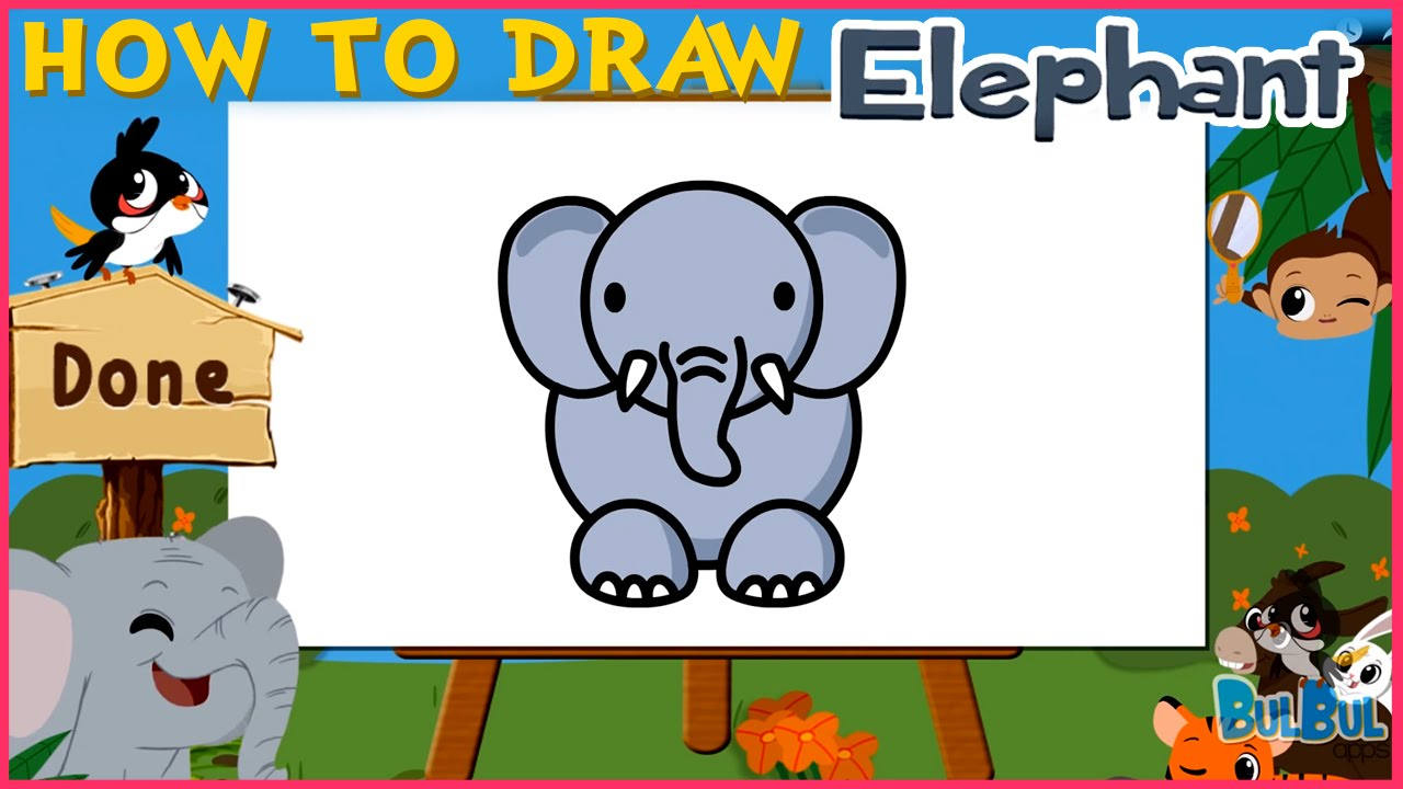 How To Draw An Elephant | Easy Step By Step Drawing Tutorial For ...
