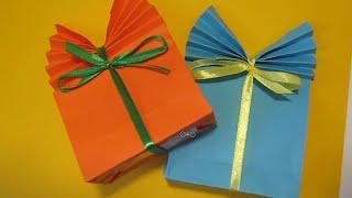 Как сделать из бумаги подарочный пакет упаковка Легкое оригами своими руками Поделки с детьми!(Как сделать из бумаги подарочный пакет упаковка Легкое оригами своими рукам Поделки с детьми! ДРУЗЬЯ, ПРИВЕ..., 2016-08-09T12:48:50.000Z)