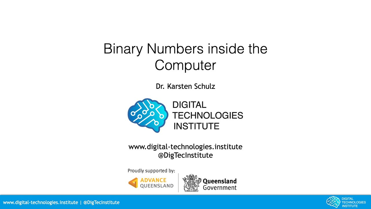 15 minutes Binary Numbers inside the Computer