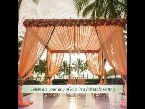 Get married in style at The Leela Goa, an idyllic venue for a fairy tale wedding