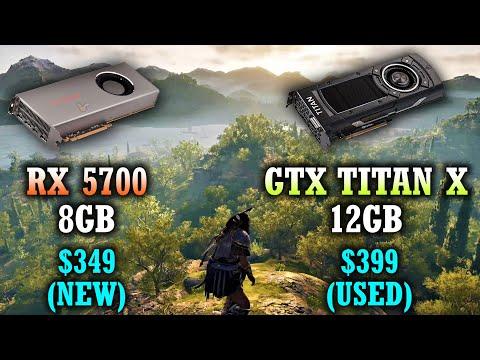 RX 5700 8GB Vs GTX TITAN X 12GB | 10 PC Games Tested