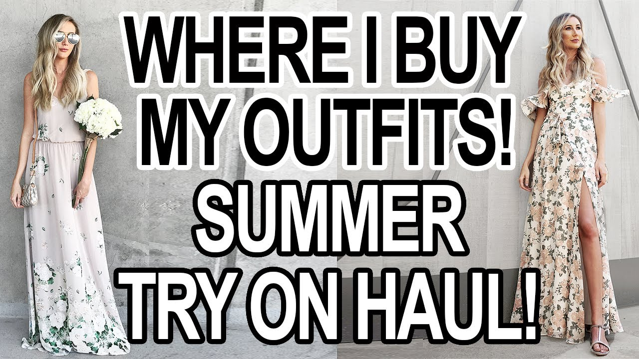 [VIDEO] - WHERE I BUY MY CLOTHES: SUMMER OUTFITS + TRY ON HAUL! 1