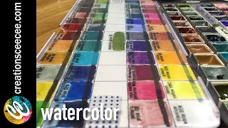 tips on how to organize your watercolor paints and swatches thumbnail