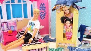 НОЧЬ В ШКАФУ У КЕНА Куклы Барби Мультик Для детей Игрушки для девочек IkuklaTV Ай кукла тиви