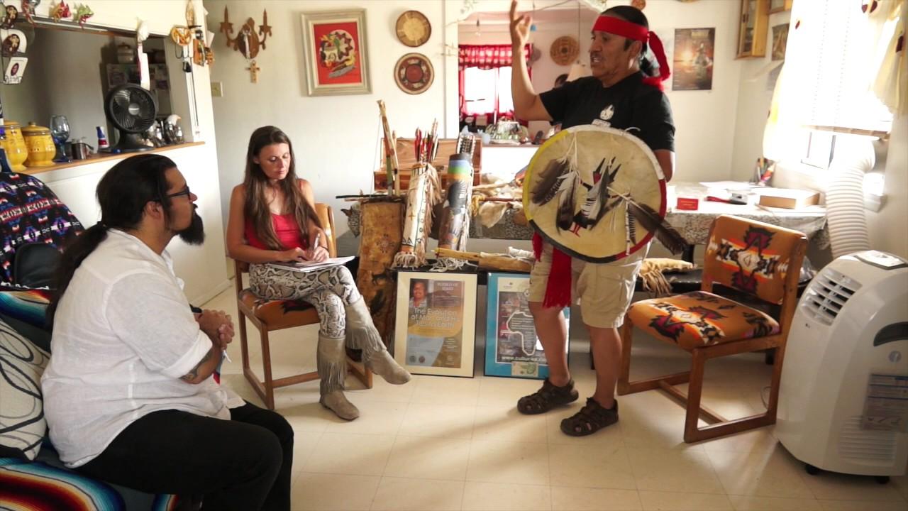 Interview du medicine-man Joseph Brophy Toledo au Nouveau-Mexique, par M. Drake.