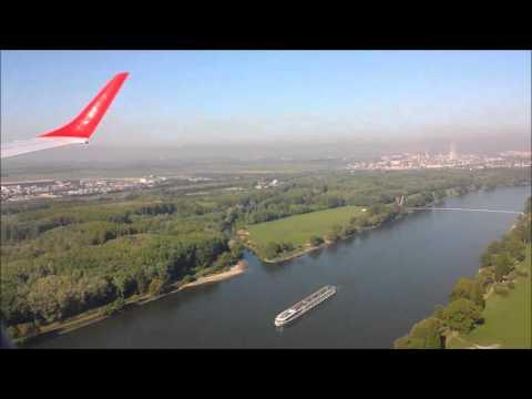 Austrian Airlines Embraer-Jet E195 approach  & landing Vienna int Airport (Schwechat) HD