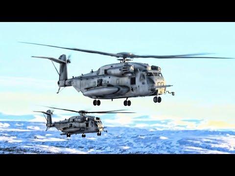 U.S. Marine Corps Helicopters • German Infantry Troops