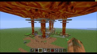 Minecraft: Nuking village with 7 nukes!!!