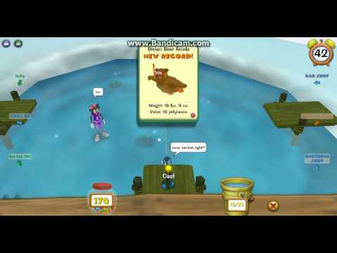 Toontown catching ultra rare fish doovi for Toontown fishing guide