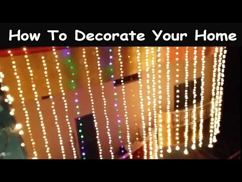 How To Decorate Your Home!12 Rabi-Ul-Awal Lighting At Home
