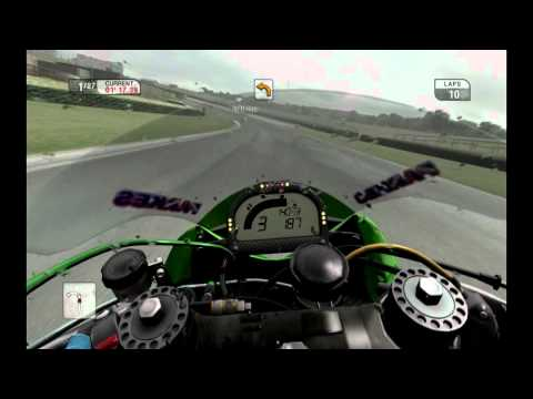 SBK 09 superbike world championship PC GamePlay. Kawasaki ZX 10R onboard.