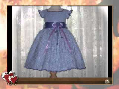 Crochet Pattern Children Dress Alissas Autumn Glory Youtube