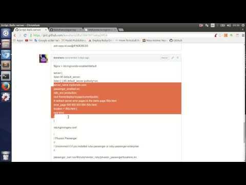วิธี Deploy Ruby On Rails + PostgresSQL + Passenger + Nginx