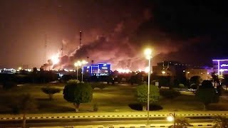حريق في مجمع أرامكو في السعودية إثر هجوم بطائرات مسيرة