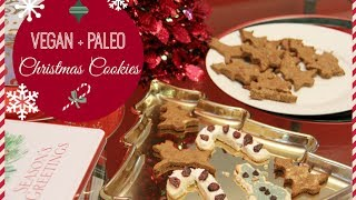 Vegan + Paleo Christmas Cookies! Healthy + Refined Sugar Free! Thumbnail