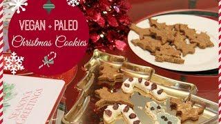 Vegan + Paleo Christmas Cookies! Healthy + Refined Sugar Free!
