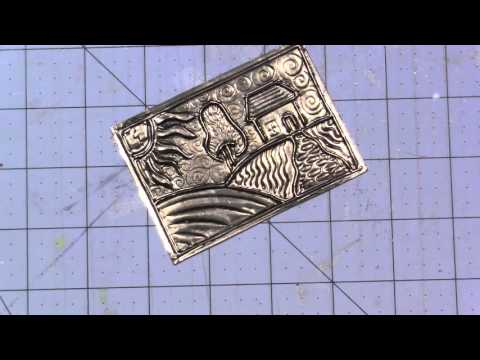 Metal Embossing with Pewter