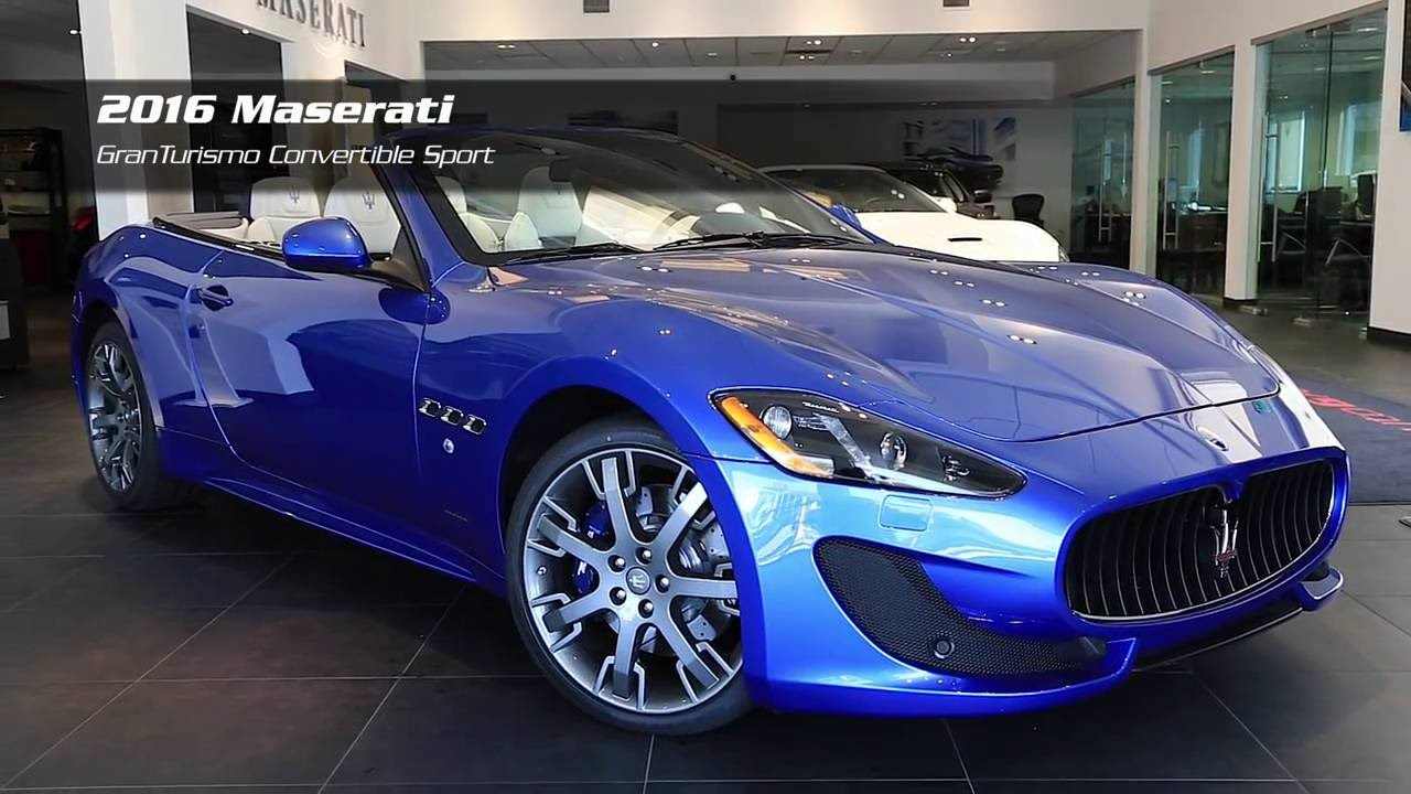 on the lot 2016 maserati granturismo convertible sport. Black Bedroom Furniture Sets. Home Design Ideas