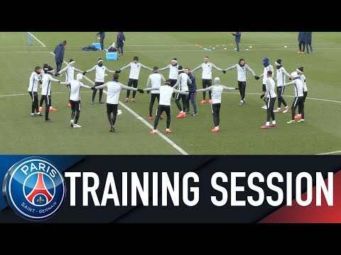 Paris Saint-Germain TRAINING SESSION REAL MADRID vs PARIS SAINT-GERMAIN