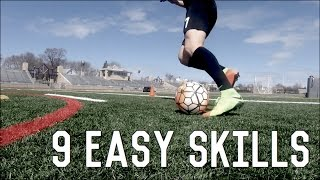 9 Easy Skill Moves To Beat Defenders   Dribbling Skills Tutorial For Footballers/Soccer Players
