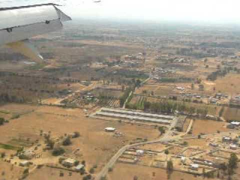 Landing at Tripoli International Airport, Libya