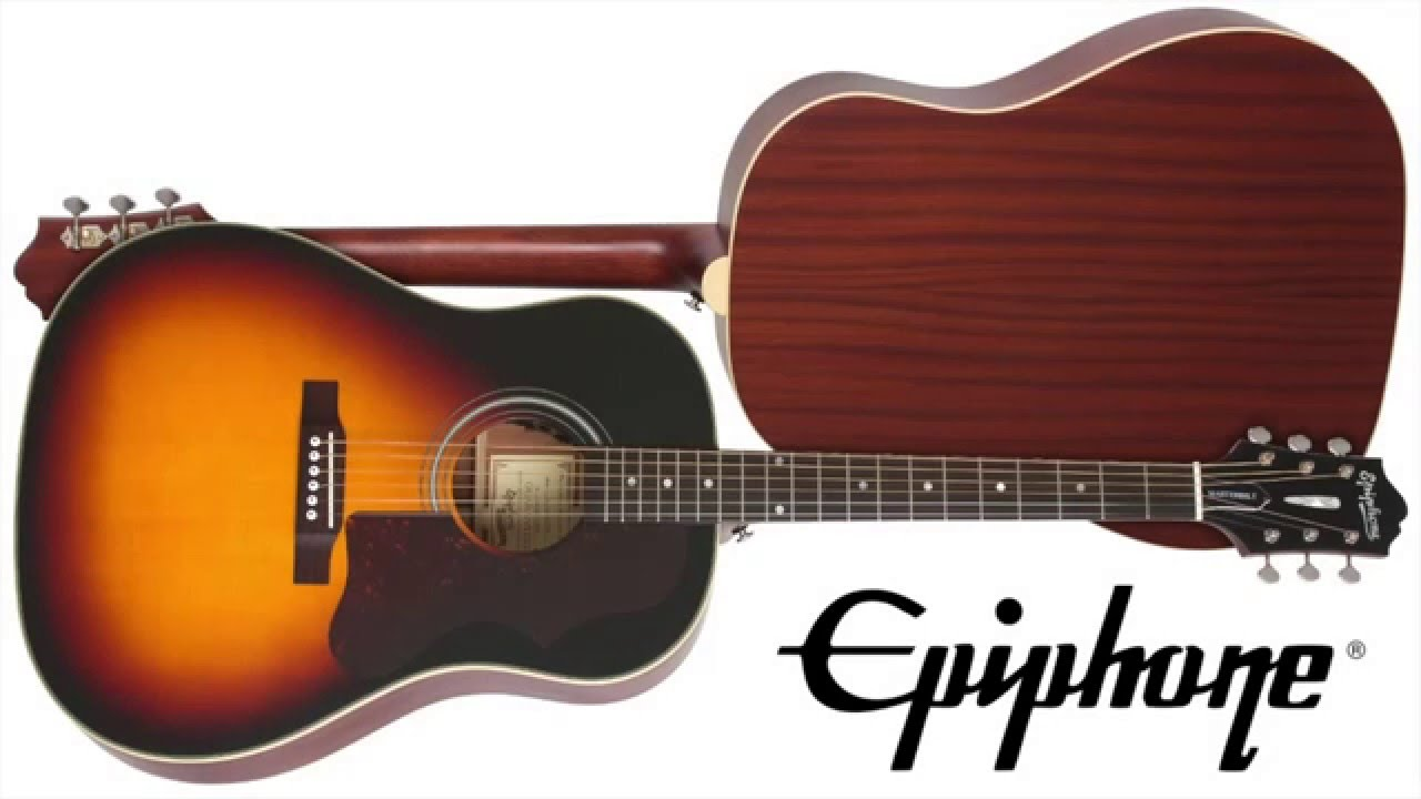 the epiphone masterbilt aj45me youtube. Black Bedroom Furniture Sets. Home Design Ideas